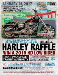 th annual umv harley raffle saturday  umv 2017 harley raffle flyer