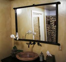 brilliant astounding custom bathroom mirrors with wooden frame and and wall for rustic bathroom mirrors brilliant bathroom vanity mirrors decoration black wall