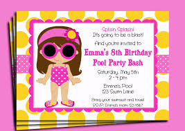 kidspool party invitations