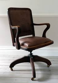 antique leather office chair. old office chairs antique with regard to vintage leather chair e