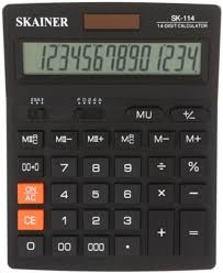 <b>Калькулятор</b> 14-разрядный <b>Skainer SK</b>-<b>114</b>, черный <b>SK</b>-<b>114</b>