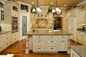 painted kitchen cabinets vintage cream: elegant painting kitchen cabinet with white color has kitchen