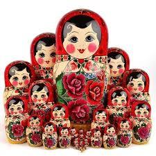 Traditional Semenov Nesting Doll <b>30 pcs</b>. <b>Set</b> - This <b>large</b> matryoshka