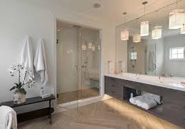 bathroom vanity lighting in this modern bathroom is provided by a series of pendants bathroom lighting pendants