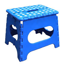 image quarter bamboo bathroom stool jeronic  inch folding step stool blue