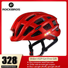 ROCKBROS <b>Cycling Helmet</b> Bike Ultralight <b>Helmet With Light</b> ...