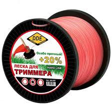<b>Леска для триммера DDE</b> Hard Line 3 0mm x 15m Grey Red 645 105