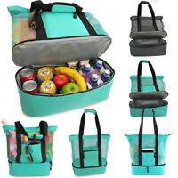 US Adults Women Girls <b>Portable</b> Insulated <b>Lunch Bag Box</b> Picnic ...