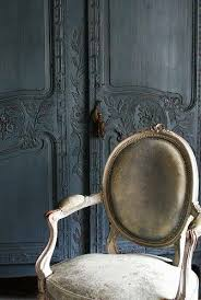 <b>grey</b> armoire, <b>French chair</b> with leather | <b>French</b> armoire, <b>French</b> ...