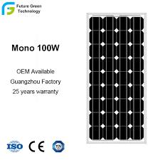 <b>100W 18V</b> China Factory Mono <b>Solar Module</b> with Competitive Price ...