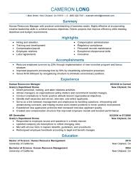 best human resources manager resume example livecareer create my resume