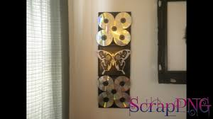 cd wall decoration diy how to tutorial youtube halloween home decor home decor blog charming office craft home wall