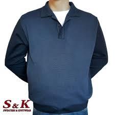 <b>Large size</b> polo collar <b>men's sweater</b>