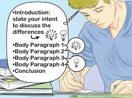 how to write a compare and contrast essay with pictures image titled write a compare and contrast essay step