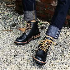 P001 <b>Men's genuine</b> cow leather <b>Motorcycle</b> high heel casual <b>rider</b> ...