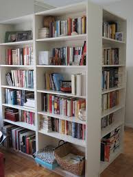 white bookshelves room house l shaped room  interior extensive l shaped room divider from white woo