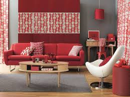 living roomamazing red wall background of home office in living room with wooden desk and red amazing office living
