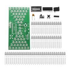 5Pcs <b>DIY Electronic</b> Hourglass <b>Kit</b> Interesting Learning <b>Kit</b> MCU LED ...