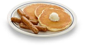 Image result for pancakes bacon and sausage
