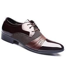 Buy <b>Men</b> Formal <b>Pointed Toe Lace</b> Up Business Blucher Shoes (41 ...