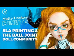 MatterHackers Minute // SLA 3D <b>Printing</b> & the <b>Ball Joint Doll</b> ...