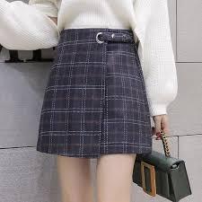 <b>2019</b> Women Skirt Autumn Winter Plaid Skirt <b>Faldas Mujer Moda</b>...