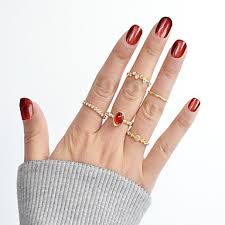 <b>Women's</b> Ring Set / Midi Rings / Stackable Rings Synthetic ...