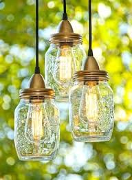 diy mason jar light alternating length wagon wheel mason jar