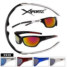 Xsportz Sunglasses <b>Wholesale</b> XS30 (<b>Assorted Colors</b>) (<b>12</b> pcs.)
