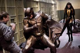 watchmen all about films is he trying to be batman this reminds me of that 1960s campy batman tv