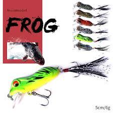 Hengjia <b>1PCS Frog</b> Lure 50mm/6g <b>Hard</b> Bass Bait Snakehead Lure ...