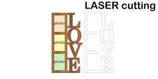 <b>Frame</b> For <b>Photos</b> With Inscription 'Love' For Laser Cutting. Collage ...