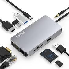 <b>Hagibis USB</b> C Hub <b>USB</b> C to <b>USB</b> 3.0, 4K HDMI, VGA, SD/TF Card ...