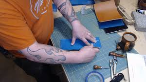 Making a <b>Leather Tablet Case with</b> Notepad and Kickstand - YouTube