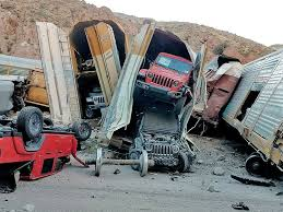 <b>Train</b> derailment damages new <b>trucks</b>