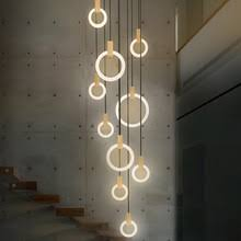 <b>Modern LED</b> stair chandelier <b>lighting</b> Nordic living room <b>ceiling</b> ...