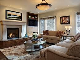 oval coffee table family room traditional with bay windows built in cabinets accent lighting family room
