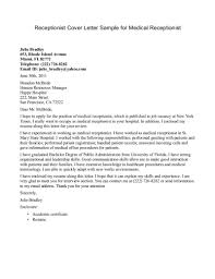 medical receptionist cover letter jobresumesample com 459 receptionist cover letter example resume templates