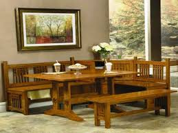 Kitchen Table With Benches Set Wooden Kitchen Table Sets Great Trestle Dining Table For Dining