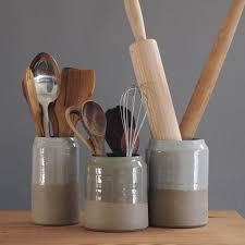 kitchen utensil: stoneware vessels are a stylish way to stash kitchen utensils