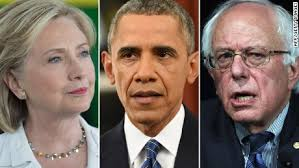 Image result for bernie sanders and obama and hillary