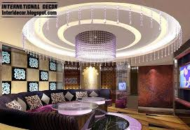 round ceiling pop design with led lighting for living room ceiling lighting design