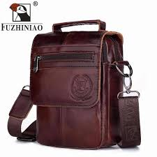 FUZHINIAO High Quality <b>Genuine Cowhide Leather Men</b> ...