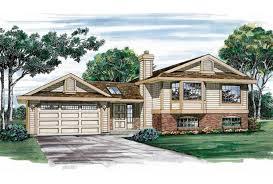 Eplans Split Level House Plan   Graced Exterior   Square Feet    Front