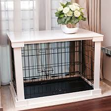 merry products end table pet crate with cage cover furniture style dog crates