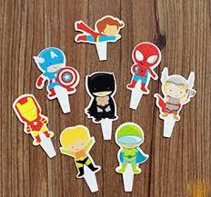 fatflyshop 96 pcsset the avengers superman batman iron man cartoon cake toppers cupcake batman iron man fanboy