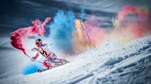 Champion Skier's <b>Downhill</b> Run Explodes With <b>Color</b> (PHOTOS ...