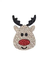 [31% OFF] 2019 Christmas Elk <b>Cartoon Glitter Brooch</b> In JET BLACK ...