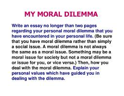 how to write moral essay form