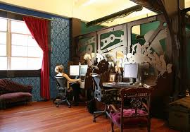 creative steampunk office design on the cheap cheap office design
